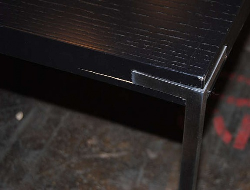 Kvadratisk, sort salongbord fra Foraform115x115cm, 50cm høyde