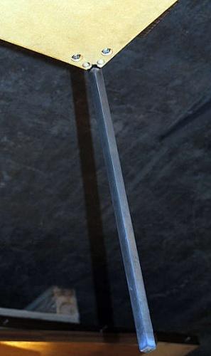 Kvadratisk, sort salongbord fra Foraform115x115cm, 50cm h?yde