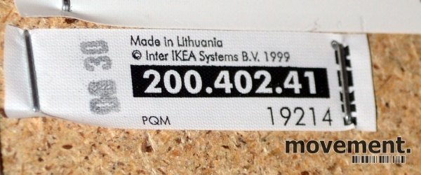 Ikea Tullsta lenestol i hvitt stoff,brukte