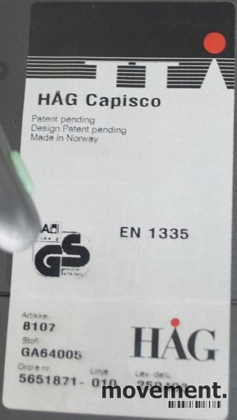 Håg Capisco 8107 kontorstol mednakkepute, max 85 høyde
