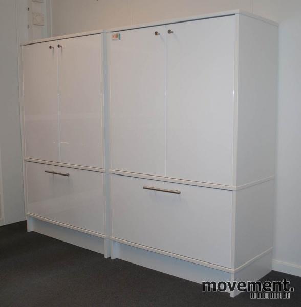 IKEA Effektiv skap i hvitt med d?rer ogskuff for hengemapper, pent brukt