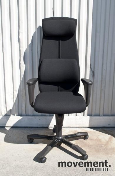 Håg Signet kontorstol, høy rygg,ryggpute og nakkepute