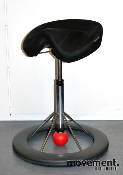 Kontorstol: BackApp ergonomiskkontorstol i rød mikrofiber