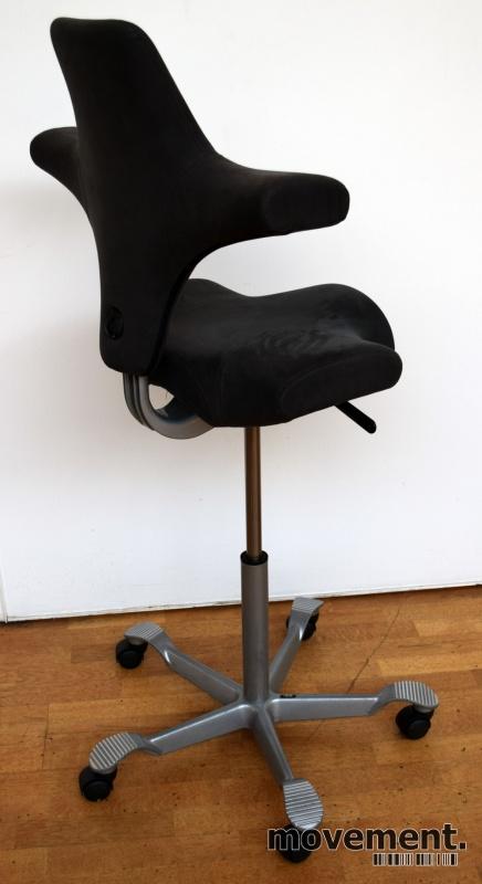 Ergonomisk kontorstol Håg Capisco 8106 igrå mikrofiber, 69cm