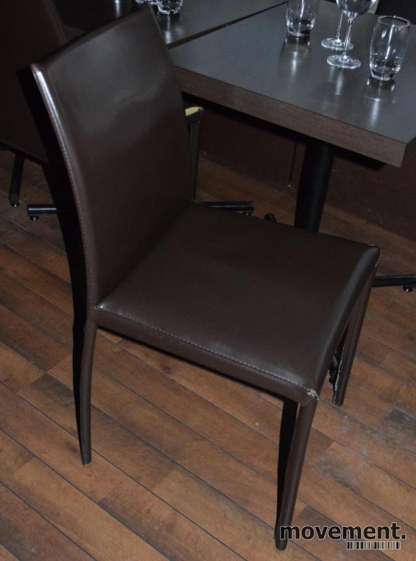 Stoler til kaferestaurant, solide ikirsebær grått, brukt