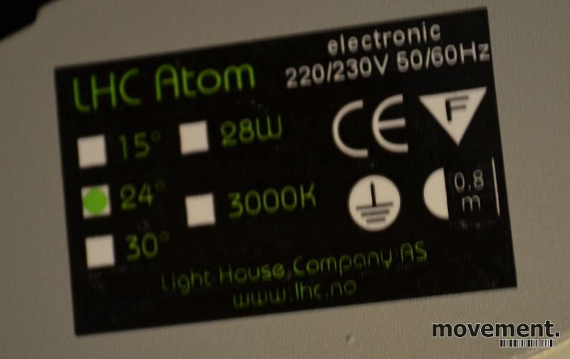 LED Butikkbelysning: Skinnespot LHC AtomLED hvit for
