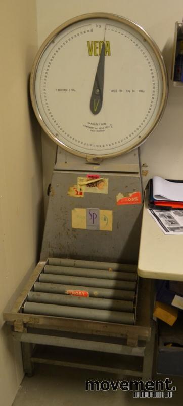 Retro / vintage vekt / pakkevekt fraVega vekt, 5-100kg, pent brukt