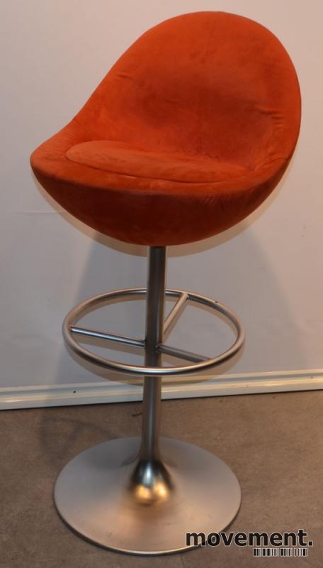 Barstol fra Johanson Design, mod Venus irødt stoff, 83 cm