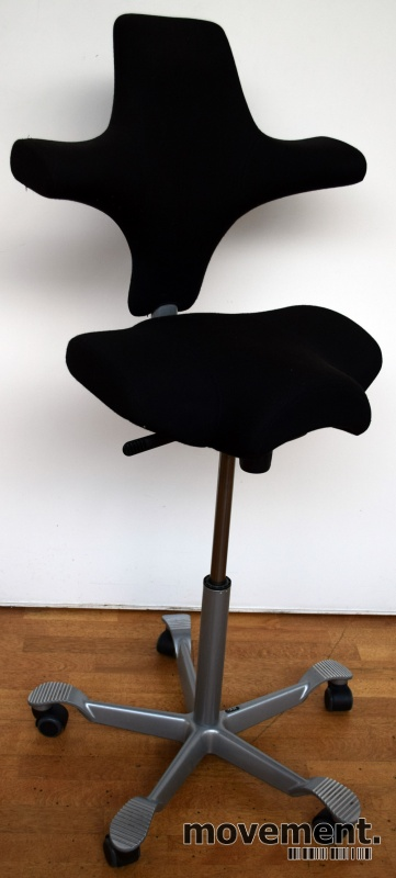 Ergonomisk kontorstol Håg Capisco 8106nytrukket i sort stoff