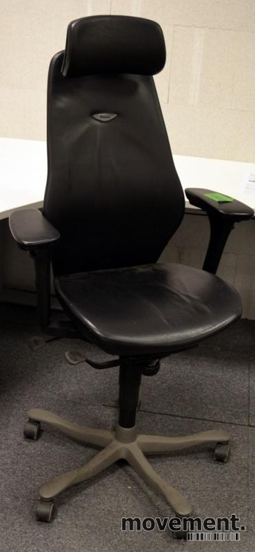 Kontorstol: Kinnarps Plus [8] med høy rygg, armlene, sort