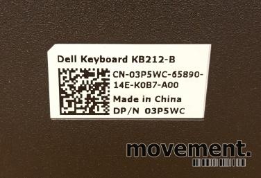 Dell tastatur til PC med USB tilkopling,sort farge
