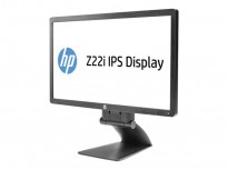 Flatskjerm til PC: HP Z22i IPS Display, 22toms, 1920x1080 Full HD, VGA/DVI/DP/USB, pent brukt