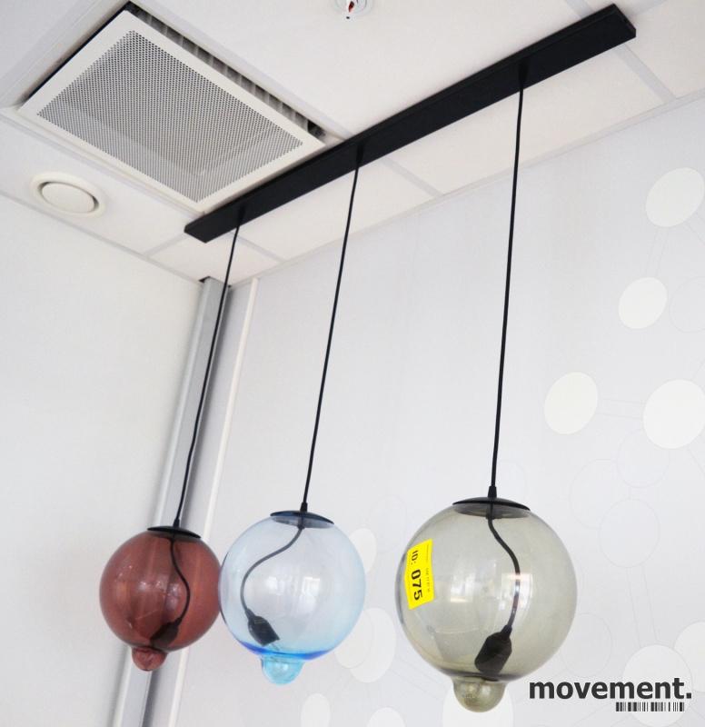 Taklampe, Cappellini Meltdown Lamp, 3glasskupler