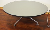 IKEA Albäck rundt bord i bjerk grått,Ø=70, 74 cm høyde