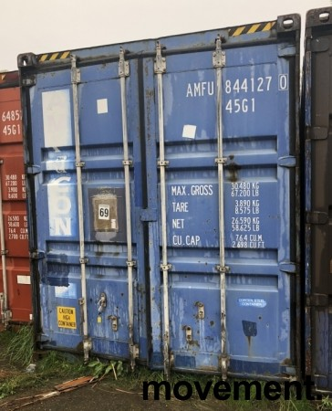 40fots HQ container / lagercontainer, lekkasje i taket bilde 1