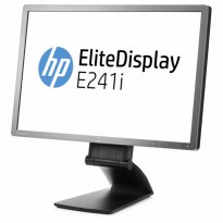 Flatskjerm til PC: HP Elitedisplay E241i, LED 24toms, 1920x1200, DP/DVI/VGA/USB, tilt, pent brukt