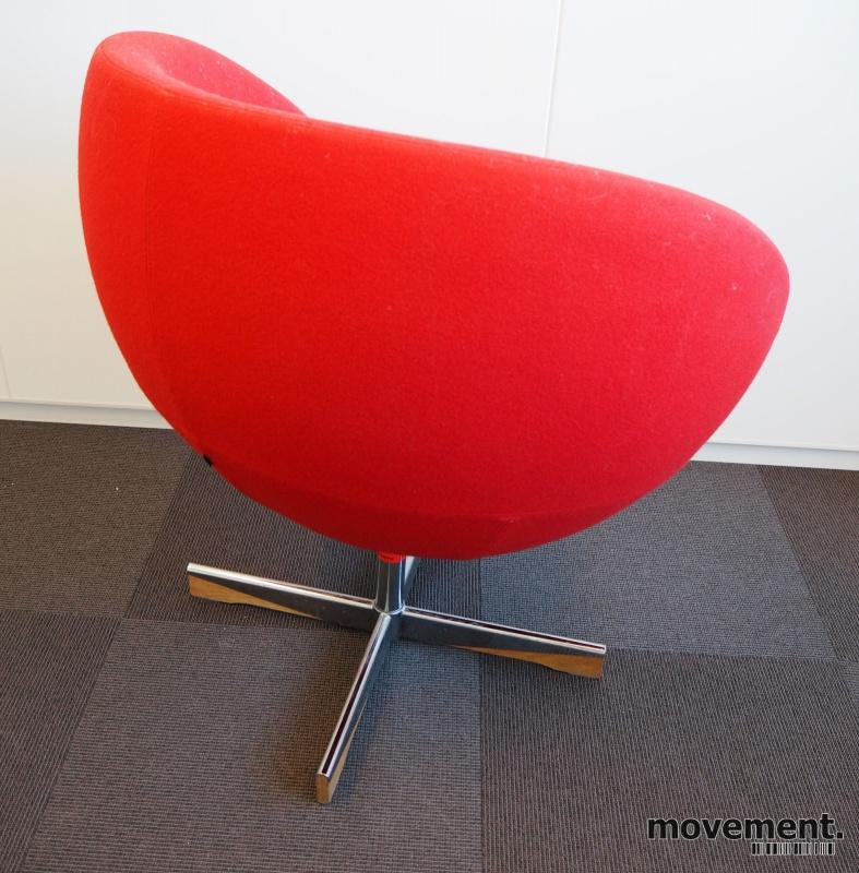 Stokke (Varier) Planet Loungestol i rødtullstoff med vipp