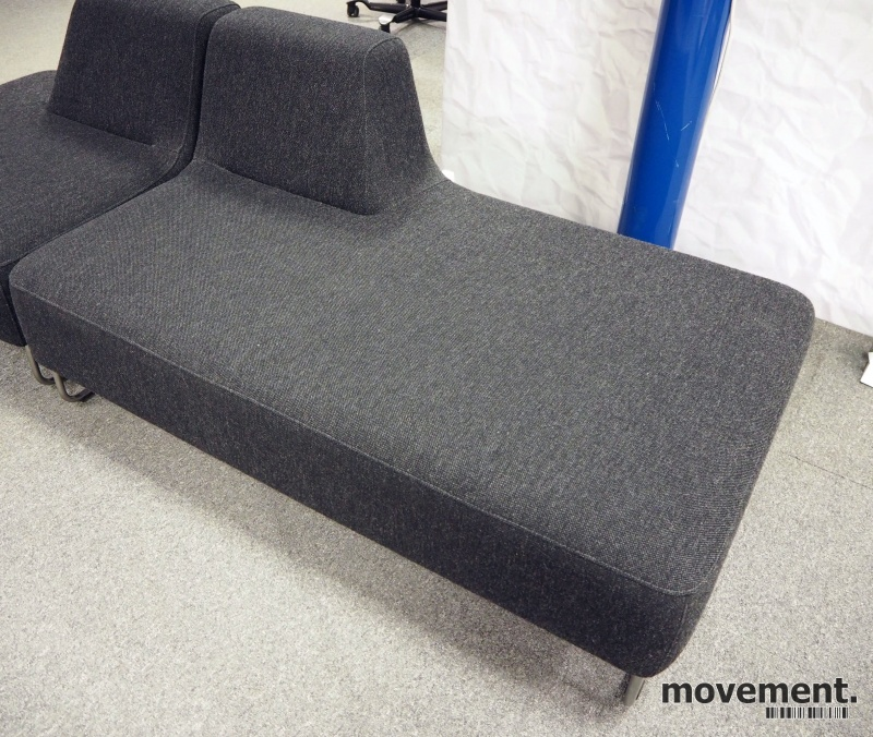 UGO sofa i koksgrått ullstoff fra LKHjelle, 2seter modul ...