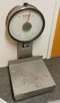 Eldre Høvik Verk retrovintage bordlampei messing, Ø=40cm på